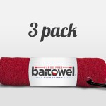 Fishing Towels 3 Pack Blood Red