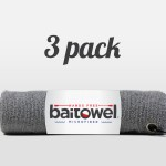 Fishing Towels 3 Pack Overcast Gray