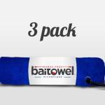 Fishing Towels 3 Pack Royal Blue