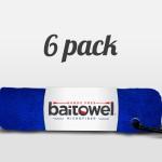 Microfiber Fishing Towel Royal Blue 6 pack