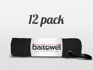 Fishing Towel Value 12 Pack Black