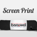 Screen Printed Baitowel Midnight Black