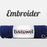 Custom Embroidery Fishing Towels Navy Blue
