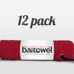 Fishing Towel Value 12 Pack Blood Red