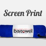 Screen Printed Baitowel Royal Blue